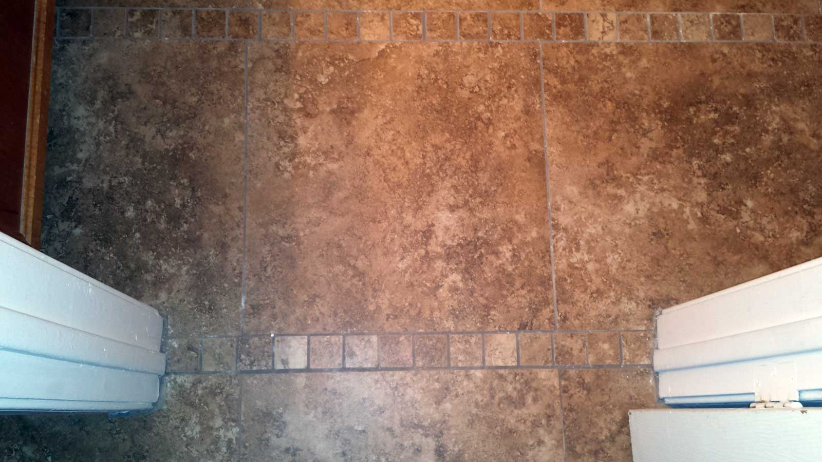 Repairing ceramic floor tile